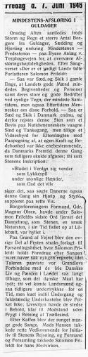 Avisartikel fra 7. juni 1946